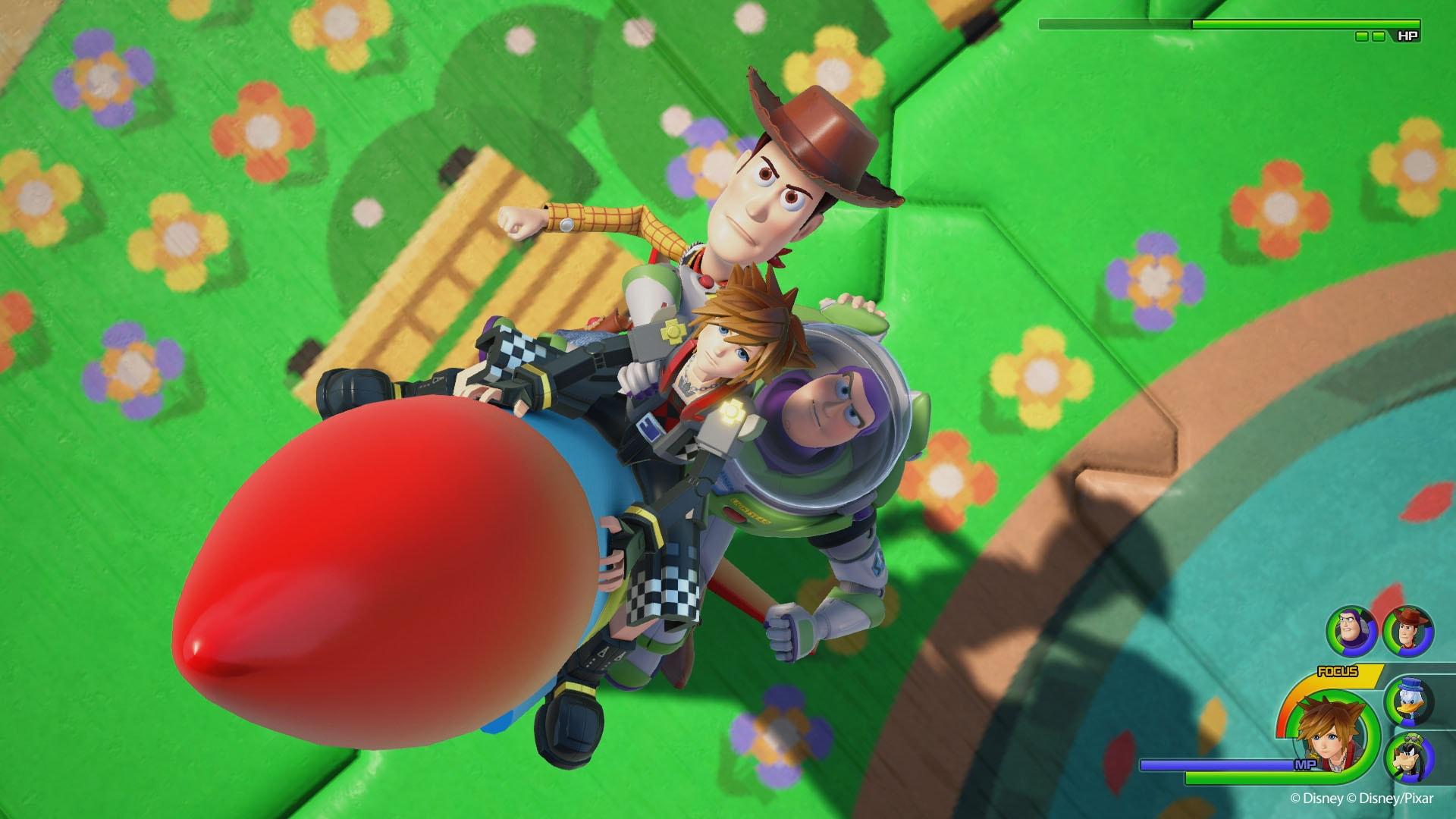 Imagen oficial de Kingdom Hearts 3 en Toy Story