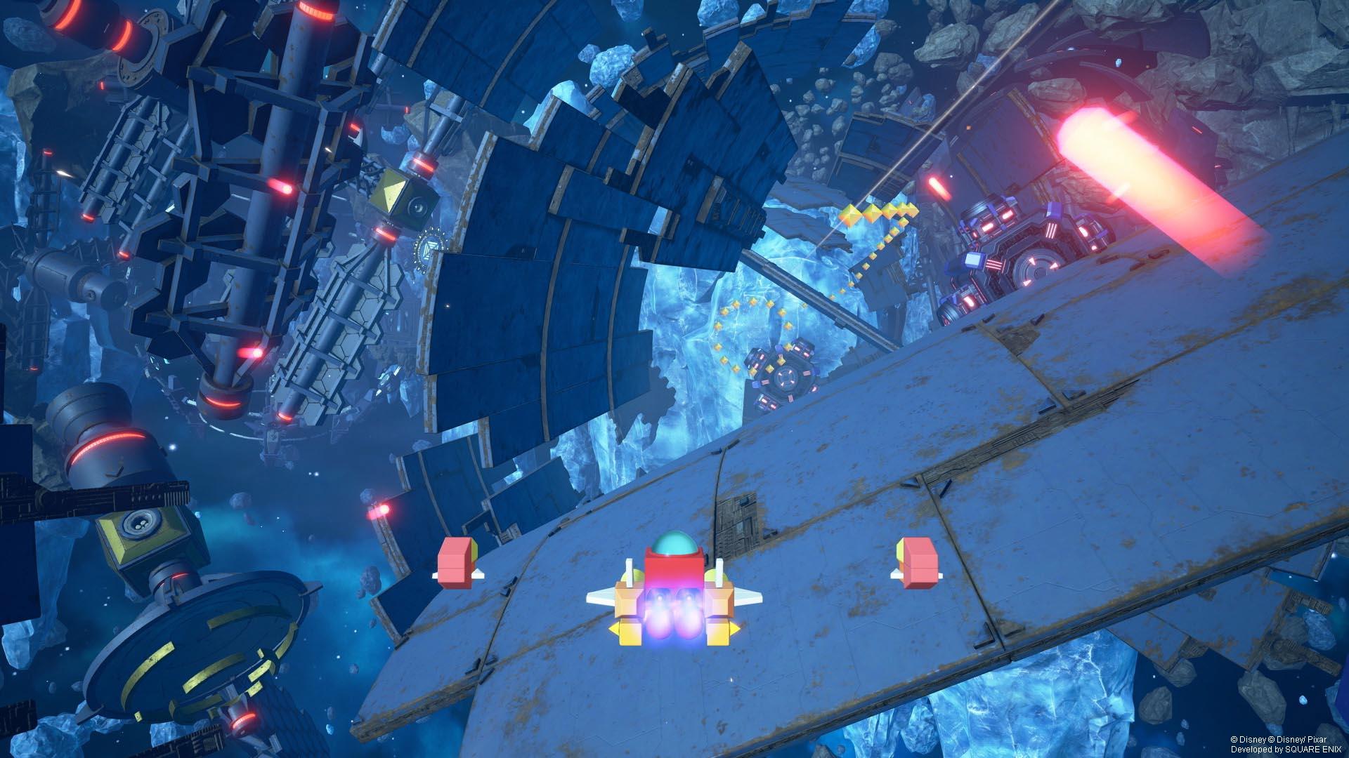 Imagen de Kingdom Hearts con la Nave Gumi