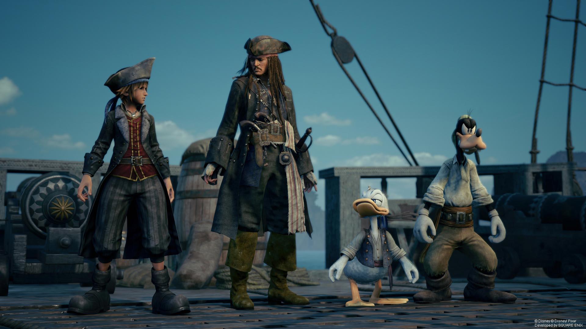 Imagen oficial de Kingdom Hearts 3 de Piratas del Caribe